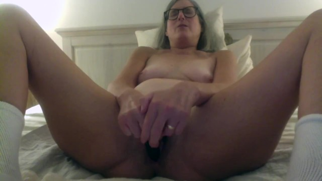 Pussy spread ages 0 to 60 Brunette milf with glasses toys wet pussy gets fucked by mature husband big cumshot