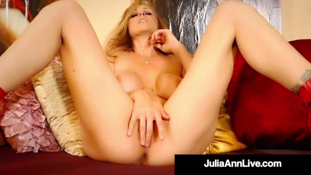 Anne burrell naked Red heeled hot mommy julia ann finger fucks her mature muff