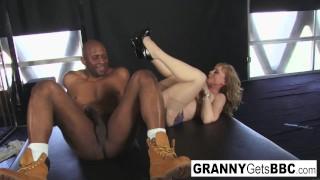 Porn legend Nina Hartley gets interracial in her sexy lingerie!
