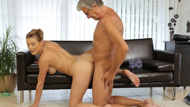 Fucking senior clips Daddy4k. redhead catches the right moment to have sex with senior
