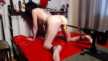 German slave slut fucking machine