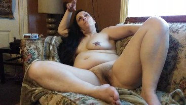 Wife smoking playing with pussy