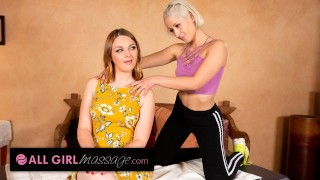 AllGirlMassage She Massages Her Hot Stepmom Only To Eat Her Pussy