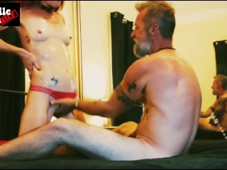Sweaty Redhead MILF gives Homemade SMOKING Blowjob / Handjob