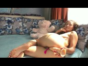Stacy_Via0300 Russian blonde girl got her ass fucked by a huge dildo for the first time
