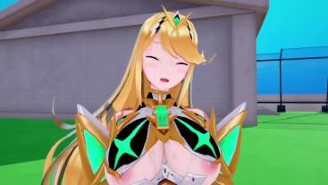 mythra Xenoblade 2 3D HENTAI FULL