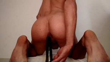 riding my dildo intense cumshot