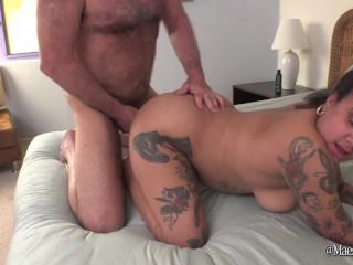 Peeing and Fucking Chubby Tattooed Kingsley