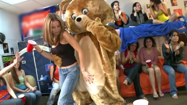 Stripper on collegegirls party Dancing bear - what happens when male strippers invade a dorm room find out