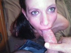Bad Submissive gets hot piss and hard throat fuck until he cums! Make-up wiped clean. Camera # 2