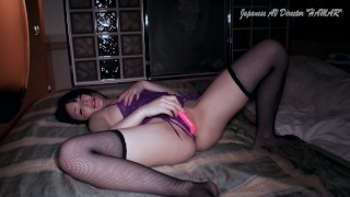 Yuu Tsuruno's sex from jerking off in sexy lingerie