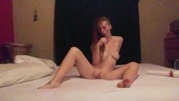 Deepthroat Dildo Fuck My Pussy Clit Cum