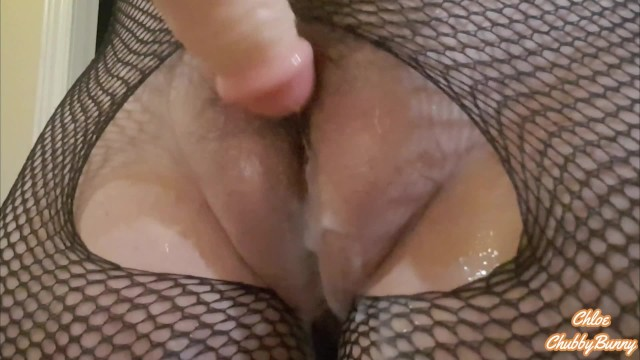 Plump bbw messy cunt fuck All natural hairy fat pussy milf messy creampie fantasy dildo grinding and fucking