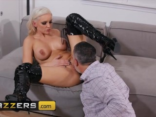 Brazzers – Blonde Babe Kenzie Taylor Pussy Fucked Near The Fireplace