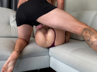 She sucked me then she grab my dick and put it in her ass. Really I didnt expect that .Roughest sex