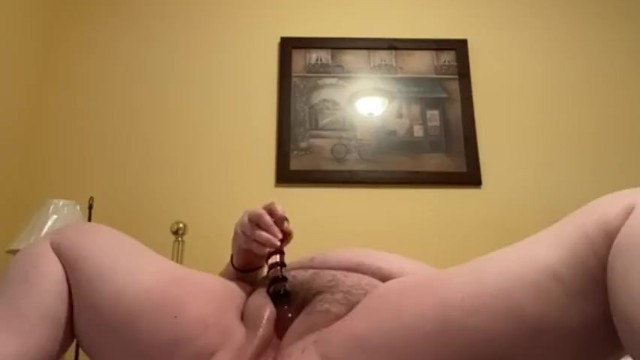 Men fucking hairy pussies Bbw fucking hairy pussy with glass dildo