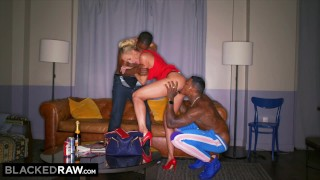 BLACKED RAW – This BBC hungry milf was craving a spit roast