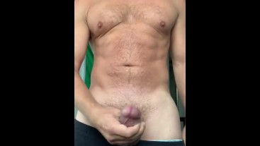 Good morning cumshot and stroke show