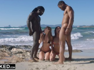 BLACKED -  She was alone on vacation until she found two BBCs