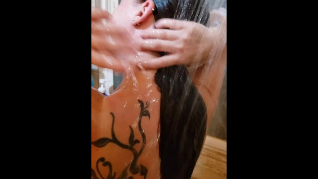 Pic shower voyeur Spying in the shower leads to blowjob