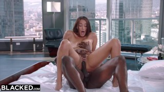 BLACKED - When her boyfriend left she went straight for the BBC
