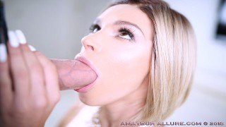 EMMA HIX FEELS EVERY INCH IN HER THROAT AND PUSSY