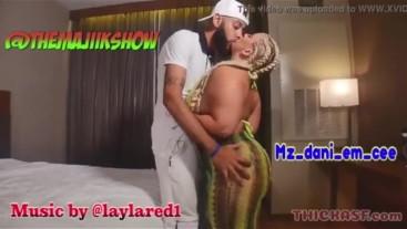 Mz Dani in her first porn ever with Majiik Montana
