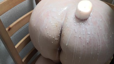 Ass hot wax and hard spanking