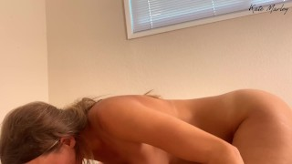 Kate Marley Sensually Caresses & Gets Chris Really Turned On - Closeup Reverse Cowgirl & Creampie