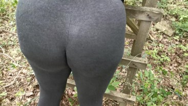 Spank my ass in public while wearing spandex