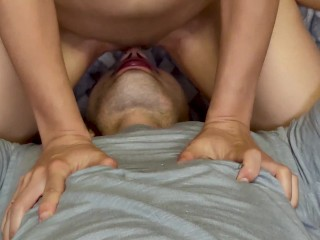 I sat on his face and finished in his mouth with pleasure (very violently ending at the end)
