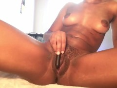 Intense shaking orgasm (almost squirted) with vibrator