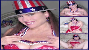 4th Of July Dildo Fucking and JOI