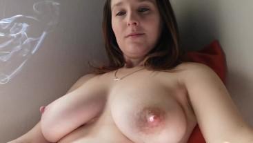 Sexy Titty Smoking Session