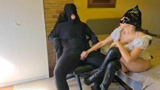 Cruel Femdom Mistress Fucks & Denies Tied Up Bondage Slave