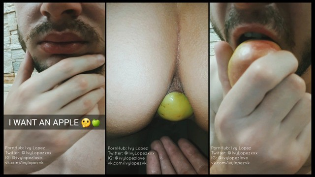 Family humor porn Want an apple take it out of your girlfriends ass / anal, hardcore, gape, meme, humor, food porn