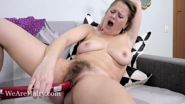 Photos of hot women with hairy armpits Afeena masturbates with her red vacuum handle