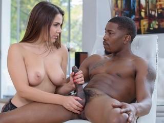 BLACK4K. Teen slut finds a big black dick even under house arrest