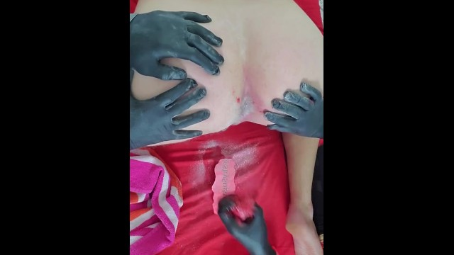 Beauty salon bikini wax Fat cock tattooed straight guy brazilian bikini waxing i found him at the pool :
