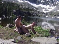 Hippy Couple Gets Dirty on a Hike Through the Rockies
