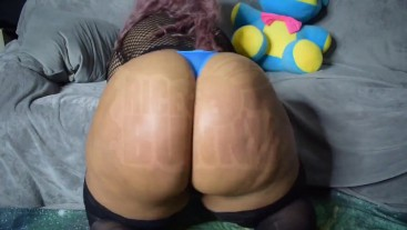 Blue Thong Spankies