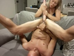 ATM - I shaft his ass with different toys & make him swallow his own cum  - MIN MOO