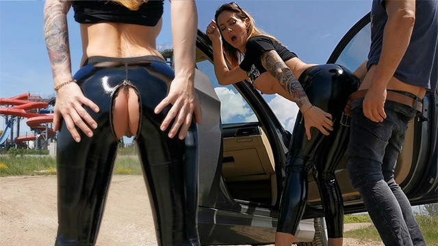 Photo of latex fetish Amateur couple love fucking outdoor after quarantine . latex fetish. wetkelly