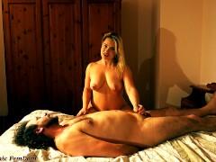 BBW Mistress Kisses Slave Handjobs Naked FemDom Humiliation