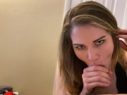 Teen swallows messy cumshot and loves it
