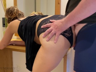 nympho stepsister gets first time double penetration – family therapy