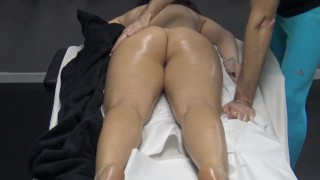 Housewife coming for massage without panties ! Her husband is a cuckold lover !