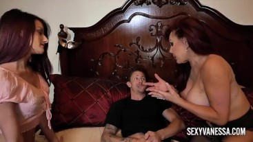 Big tit mature Sexy Vanessa teaches her stepdaughter how to fuck