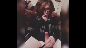 Trap Cute Masturbation Big Dick