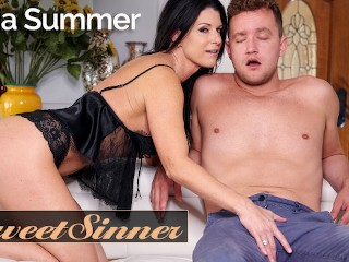Sweet Sinner - Fucking my gfs hot milf mom India Summer hottest blowjob ever